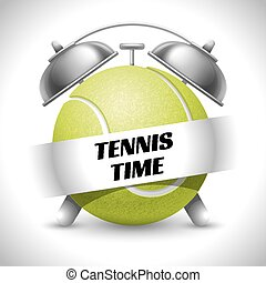 Tennis Time. Concept on Sport Tennis Theme. Time to Play ...