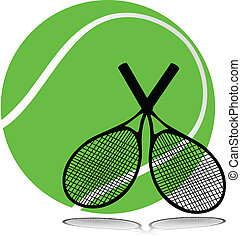 tennis tools illustration