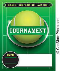 Tennis Tournament Template Illustration - A tennis...