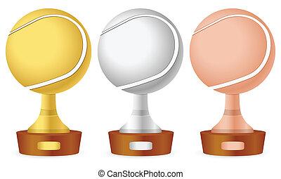 Tennis trophy set