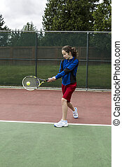 Tennis two handed Backhand for Lefthanded Player - Young...