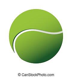 tennis, vettore, sport, palla, icona
