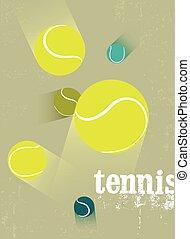 Tennis vintage grunge style poster.