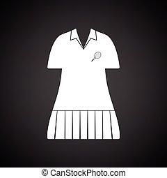 Tennis woman uniform icon