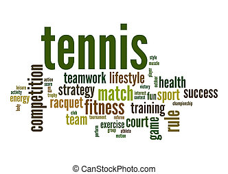 Tennis word cloud
