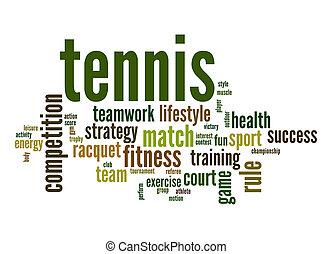 Tennis word cloud