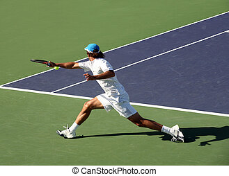Tennis - Young man playing tennis