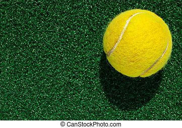 tennisball, gras