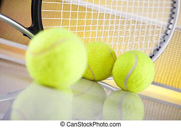 tennisball, schläger
