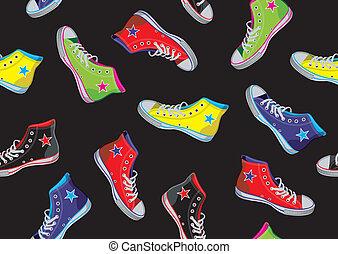 tennisskor, pattern., tonåring