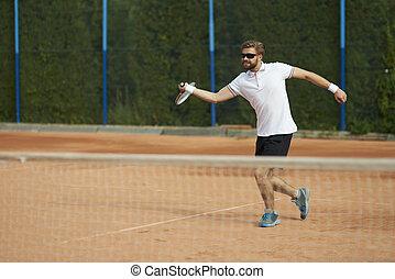tennisspieler, bewegung