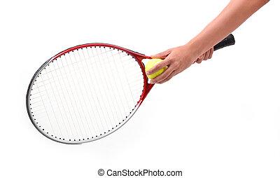 tennisspieler, freigestellt