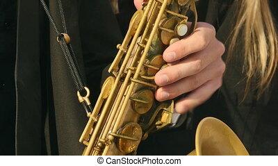 Tenor Saxophone, saxophone brass pipe valve, Play wind Instrument