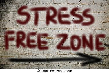tensão, conceito, livre, zona