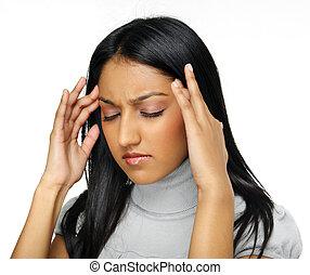 tensão, dor de cabeça