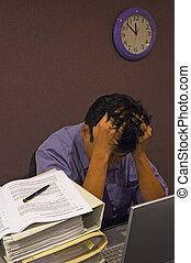 tensão, no trabalho