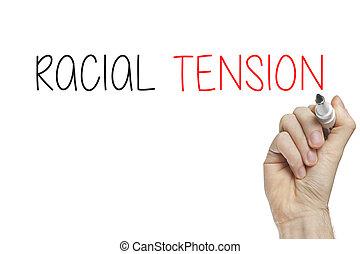 tensão,  Racial, mão, escrita