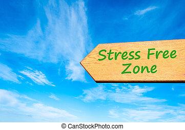 tensão, zona, livre, sinal, seta, mensagem