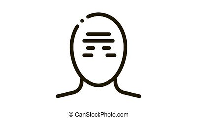 Tension Band Squeezing Head Headache animated black icon on white background