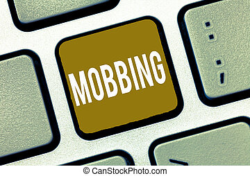 tension, concept, individu, specially, texte, travail, signification, mobbing., abus, émotif, écriture, bulling