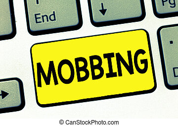 tension, concept, mot, specially, business, texte, individu, travail, écriture, mobbing., abus, émotif, bulling