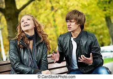 tension, couple, relation, jeune