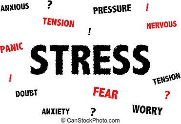 tension, inquiétude, illustration