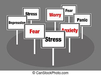 tension, inquiétude, signes
