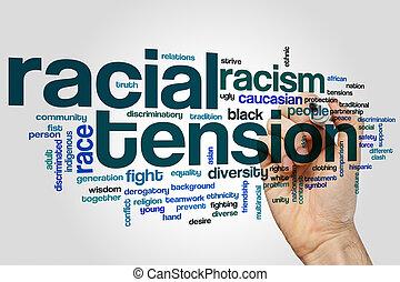 tension, racial, mot, nuage