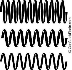 tension spring black symbols - illustration for the web