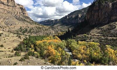 Tensleep Creek Wyoming Fall Colors - Tensleep Creek Wyoming...