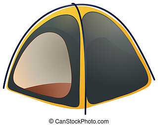 Tent - a tent isolated on a white background