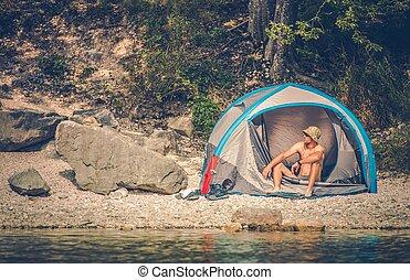 Tent Camping at the Lake