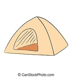 Tent Camping. Ink Pen. accomodation. house. mobile home - ...