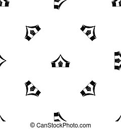 Tent, camping symbol pattern seamless black