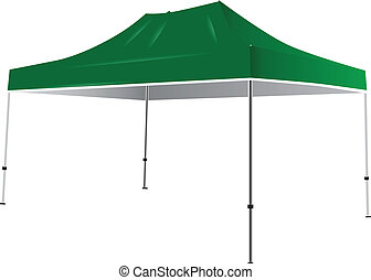 Tent from weather - Tent from the weather and sun. Vector...