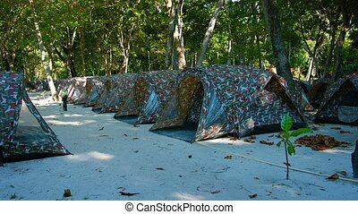 Tent Hotel Lined Up for Tourists
