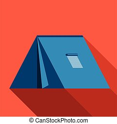 Tent icon. Flat design. Vector illustration.