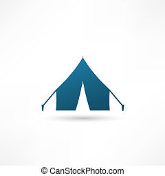 Tent icon, Vector illustration