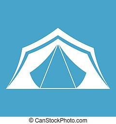 Tent icon white