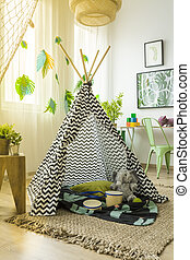 Tent in children's room