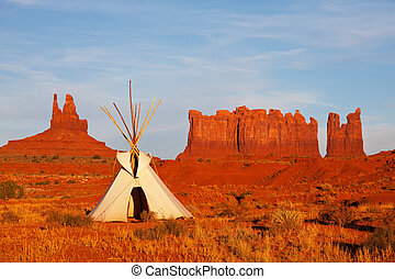 Monument valley - Tent in Monument valley,Utah,USA