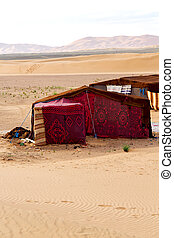 tent in the morocco sahara sky