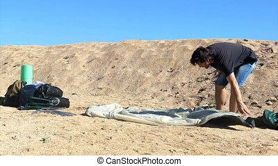 tent installation process