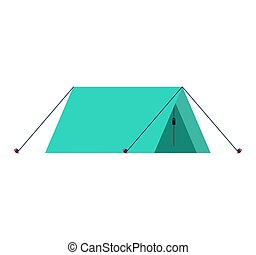 Tent isolated. Camp booth on white background. Vector ...