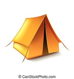 Tent isolated on white vector - Tent isolated on white photo...