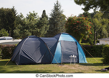 tent on the camping