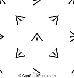 Tent pattern seamless black