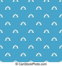 Tent pattern seamless blue