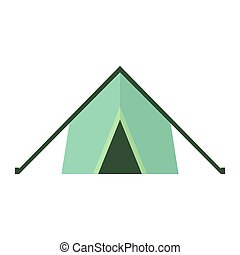 Tent. Vector icon on white isolated background